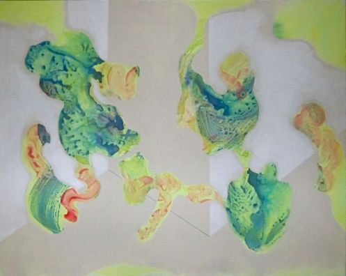 Shapes in Space XII (2010) Acrylic on canvas, 120x150 cm