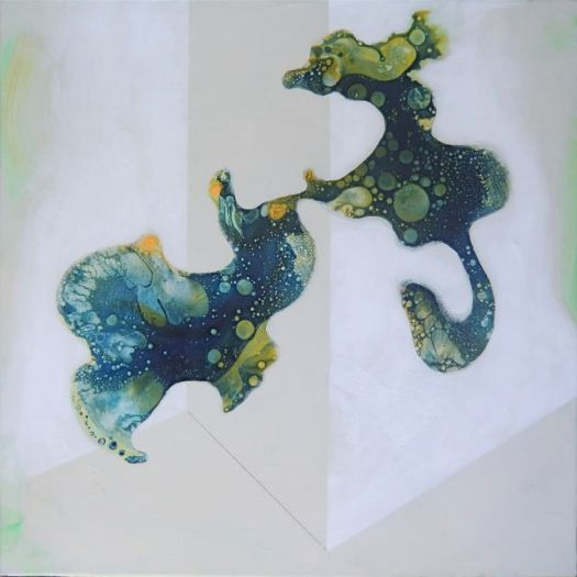 Shapes in Space XVII (2010) Acrylic on canvas, 60x60 cm